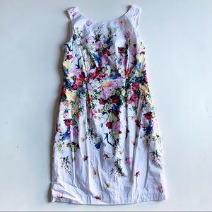 Talbots NWT Floral Sheath Dress Sleeveless Size 12
